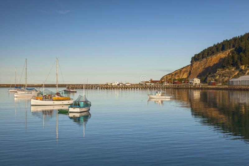 Puerto Nueva Zelanda de Oamaru fotografía de archivo libre de regalías