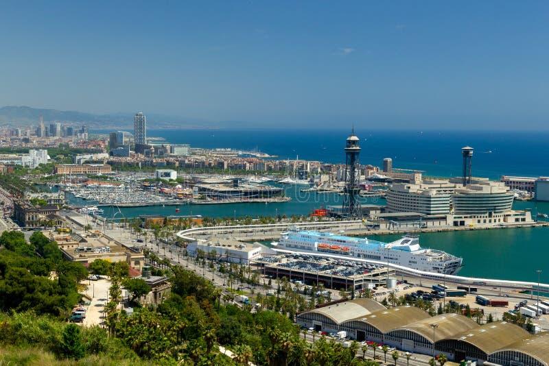 Puerto o Barcelona foto de archivo libre de regalías