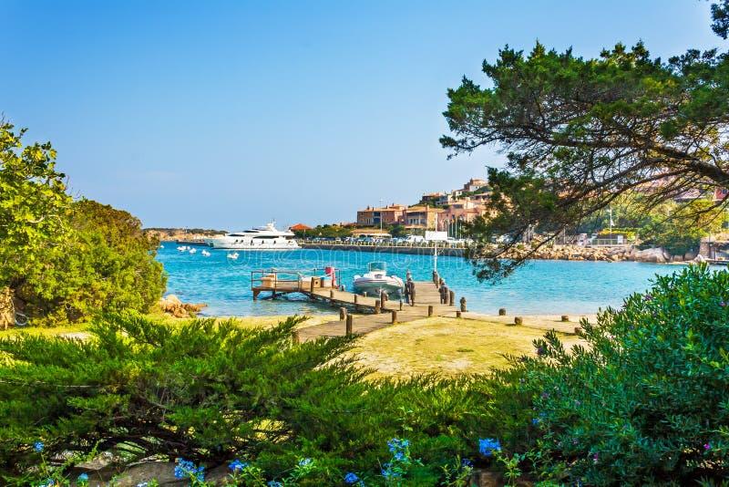 Puerto Oporto Cervo, Cerdeña fotografía de archivo libre de regalías