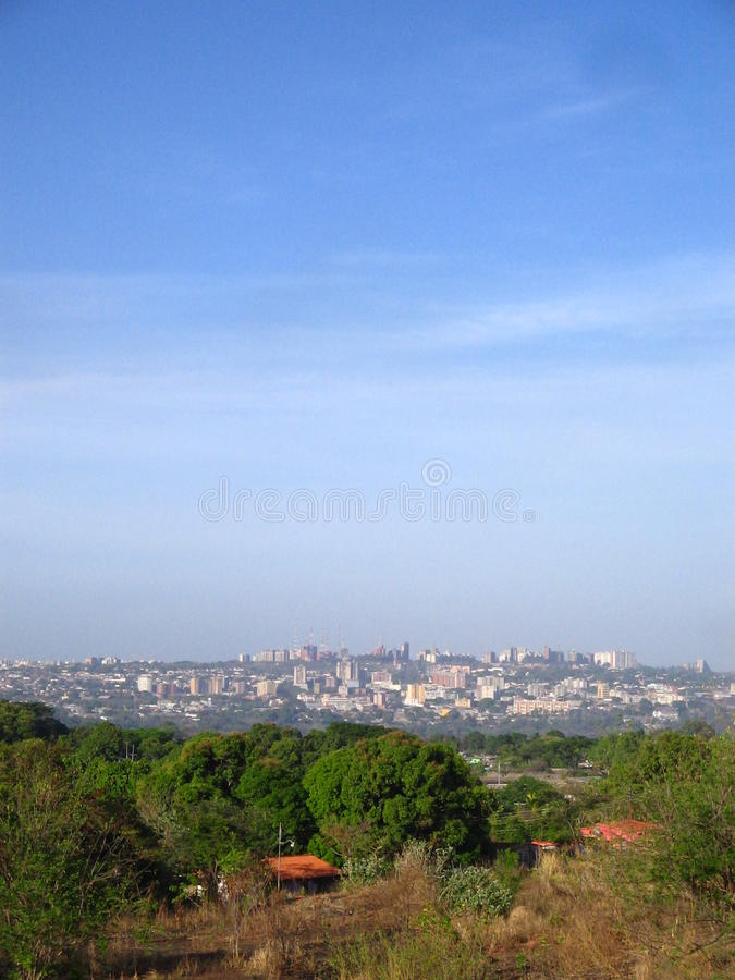 Puerto Ordaz city view, Venezuela. South America. Image of the city of Puerto Ordaz of Venezuela, this city is located in the south east region of this South stock photo