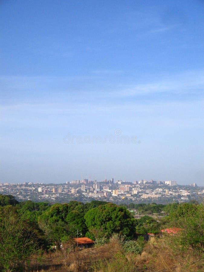 Puerto Ordaz miasta widok, Wenezuela 3 d formie wymiarowej Amerykę wspaniałą na południe ilustracyjni trzech bardzo zdjęcie stock