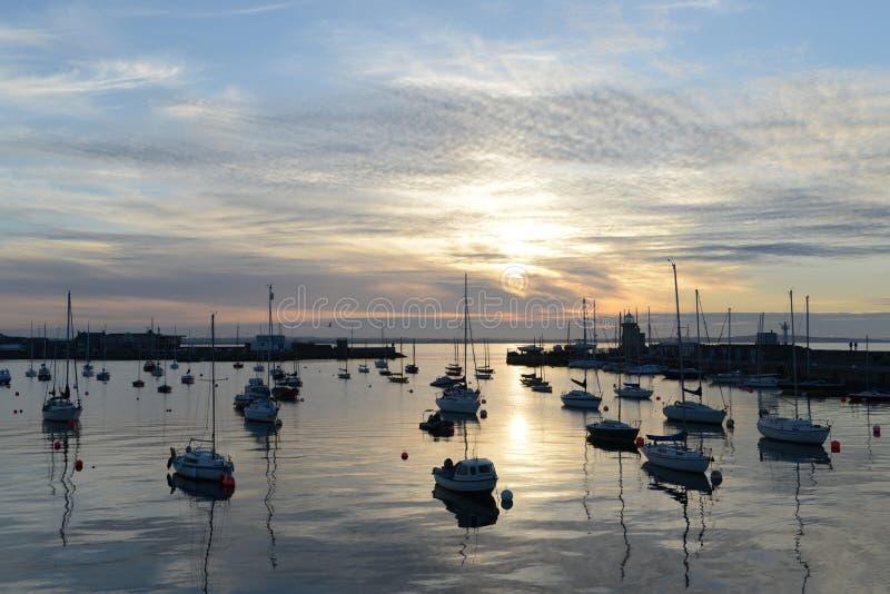 Puerto pacífico en Howth imágenes de archivo libres de regalías