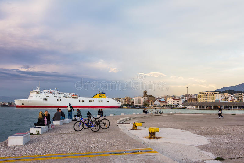 Puerto Patras Grecia fotografía de archivo libre de regalías
