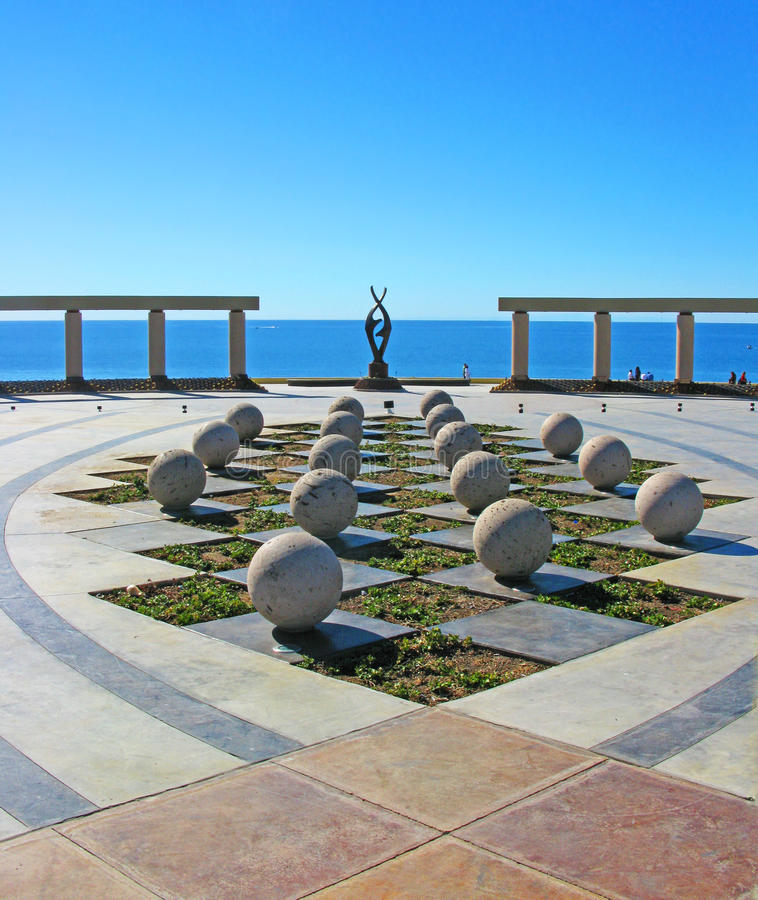 Puerto Penasco, Mexico - Waterfront Art. This beautiful artwork overlooks the Sea of Cortez at the waterfront town plaza or square in Puerto Penasco, Mexico ( royalty free stock photo
