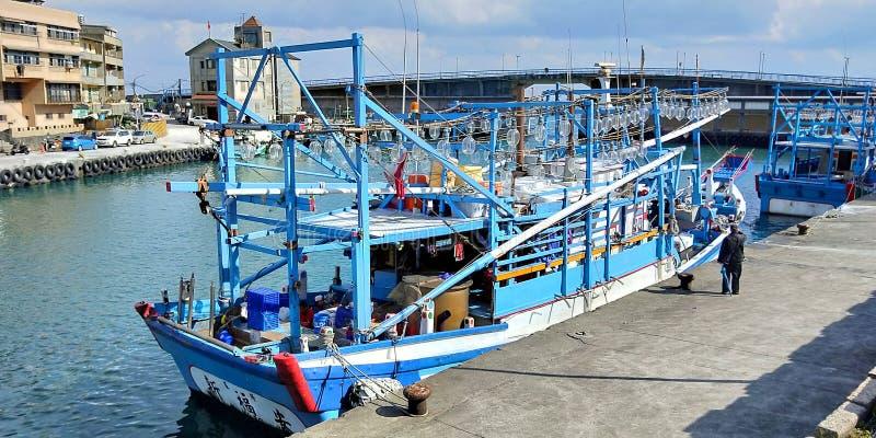 Puerto pesquero de Taiwán fotos de archivo libres de regalías