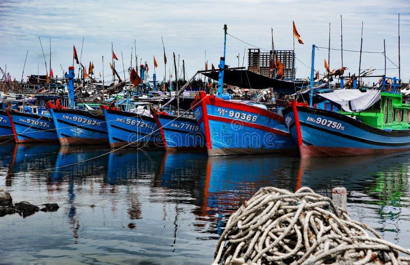 Puerto pesquero en danang en Vietnam fotografía de archivo libre de regalías