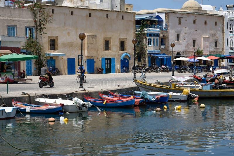 Puerto pesquero viejo de Bizerte fotografía de archivo