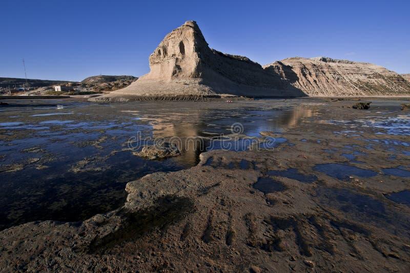 Puerto Piramides, Halbinsel Valdes, Argentinien lizenzfreie stockfotos