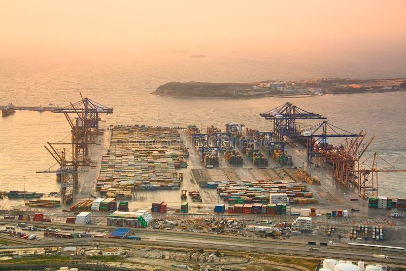Puerto Pireo, Atenas del envase fotos de archivo libres de regalías