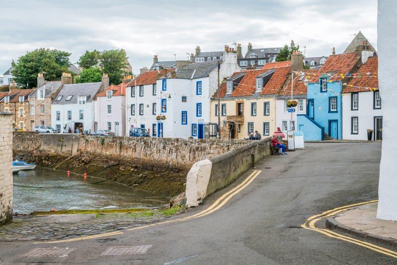 Puerto por una tarde del verano, Fife, Escocia de Monans del santo fotografía de archivo libre de regalías