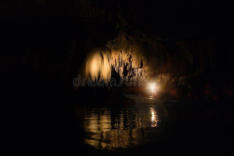 Puerto Princesa subterranean podziemna rzeka w Filipiny obrazy royalty free