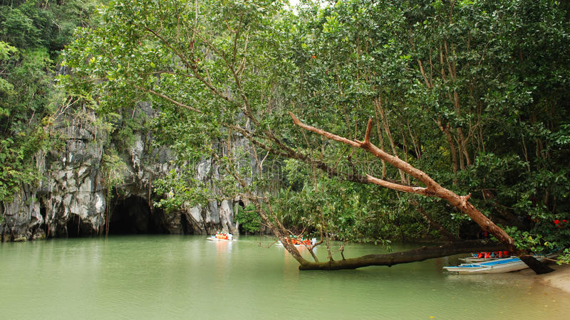 Puerto Princesa Underground River. The Puerto Princesa Underground River in Palawan, Philippines. One of the New Seven Wonders of the World royalty free stock photo