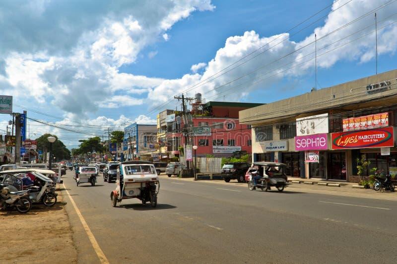 Puerto- Princesastraßen lizenzfreies stockbild