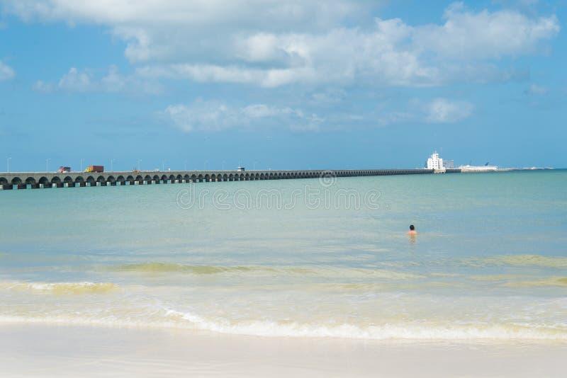 Puerto Progreso, Yucatan στοκ φωτογραφίες με δικαίωμα ελεύθερης χρήσης