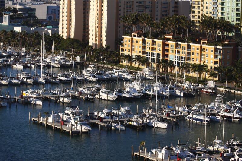 Puerto/puerto deportivo de Miami fotografía de archivo