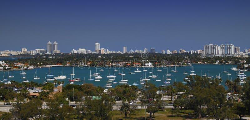 Puerto/puerto deportivo de Miami imagen de archivo libre de regalías