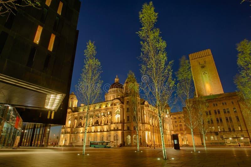 Puerto que construye Liverpool foto de archivo