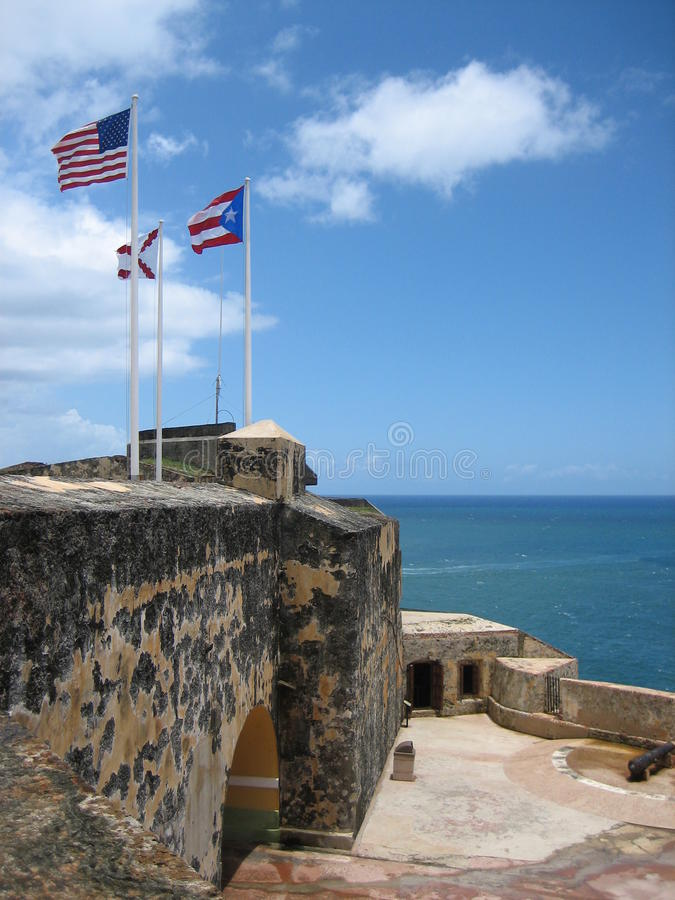 Puerto Rican Fortress royalty free stock photo