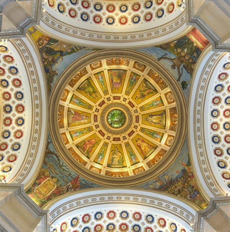 Puerto Rico Capitol Building Cupola - San Juan. San Juan, Puerto Rico - December 25, 2015: Puerto Rico Capitol (Capitolio de Puerto Rico) cupola interior in San stock photography