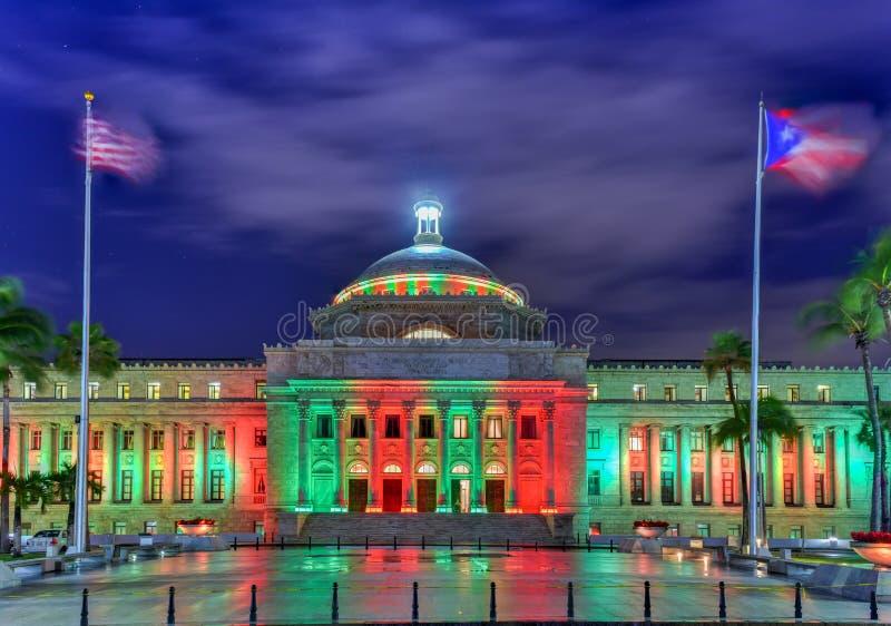 Puerto Rico Capitol Building - San Juan royalty-vrije stock afbeeldingen