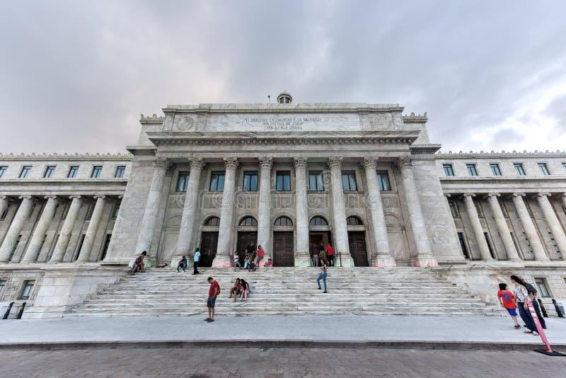 Puerto Rico Capitol Building - San Juan. San Juan, Puerto Rico - December 25, 2015: Puerto Rico Capitol (Capitolio de Puerto Rico) in San Juan, Puerto Rico royalty free stock images