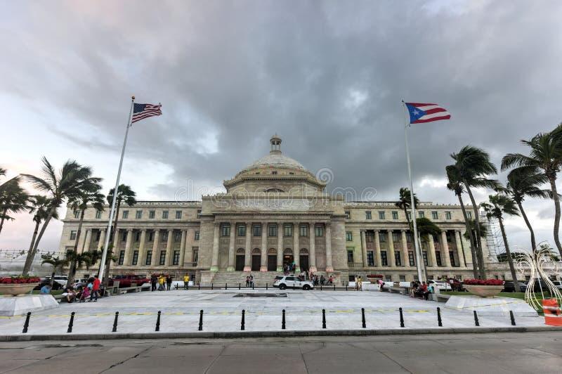 Puerto Rico Capitol Building - San Juan. San Juan, Puerto Rico - December 25, 2015: Puerto Rico Capitol (Capitolio de Puerto Rico) in San Juan, Puerto Rico stock image