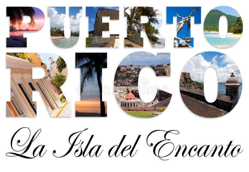 Puerto Rico Collage vector illustration