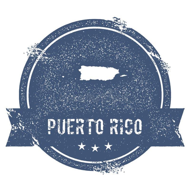 Puerto Rico fläck royaltyfri illustrationer