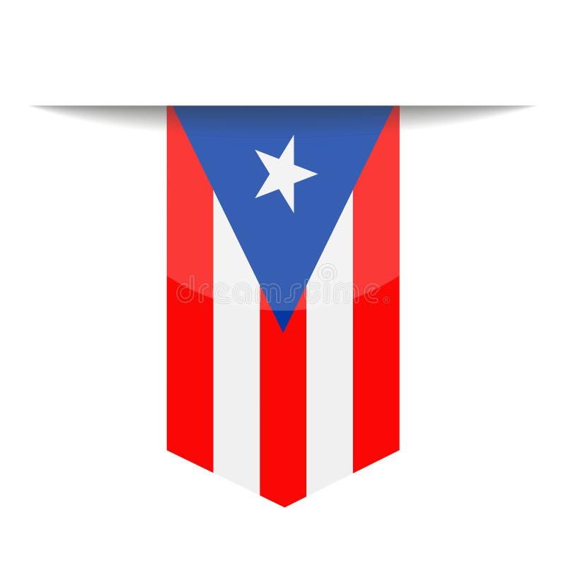 Puerto Rico Flag Vector Bookmark Icon stock de ilustración