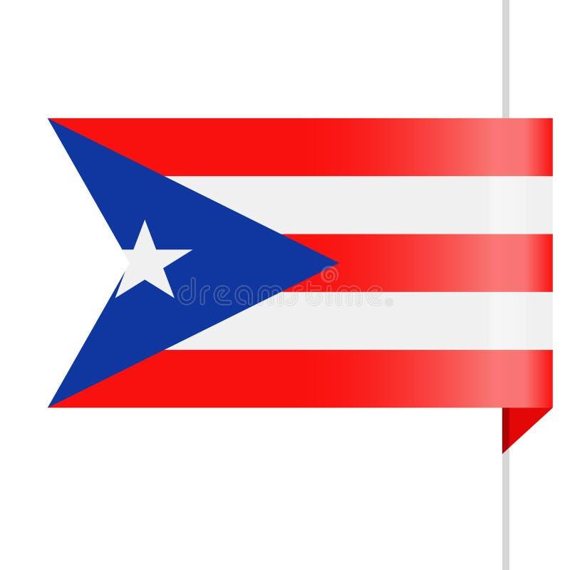 Puerto Rico Flag Vector Bookmark Icon ilustración del vector