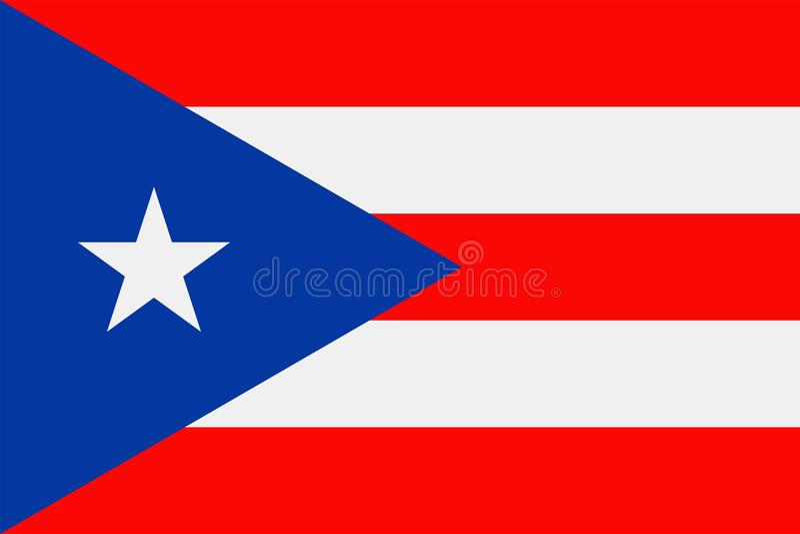 Puerto Rico Flag Vetora Flat Icon ilustração stock