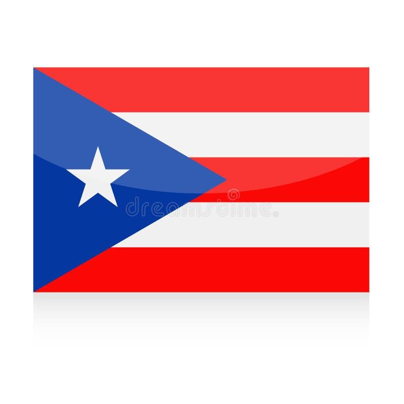 Puerto Rico Flag Vetora Icon ilustração royalty free