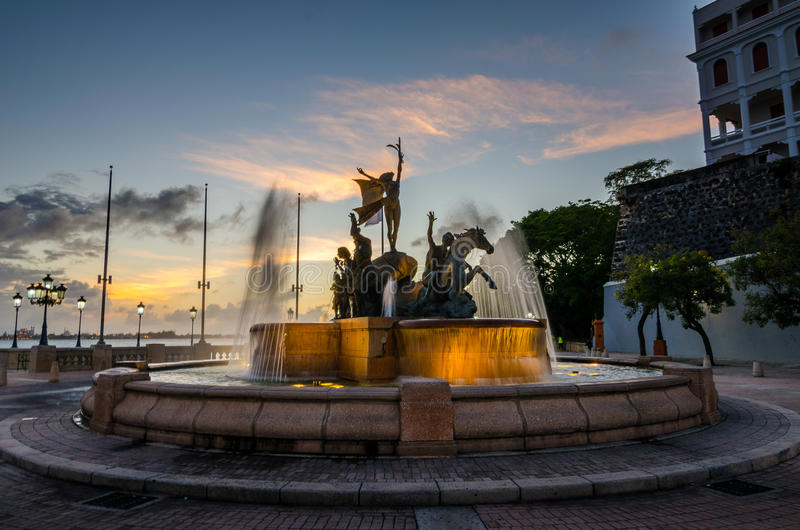 Puerto Rico Fountain immagine stock