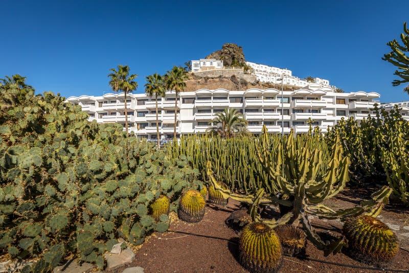 Puerto Rico, Gran Canaria in Spain - December 16, 2017:. Puerto Rico, Gran Canaria Spain December 2017 royalty free stock images