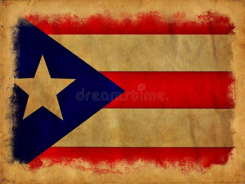 Puerto Rico grunge flag stock photo