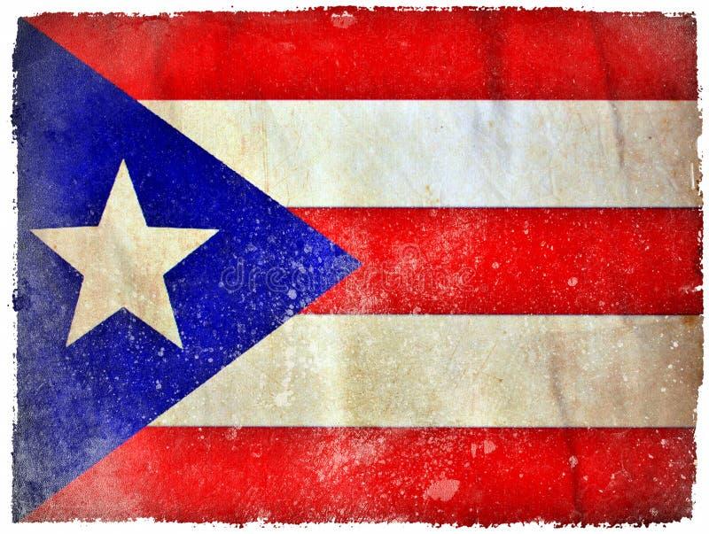 Puerto Rico grunge flag royalty free stock photo