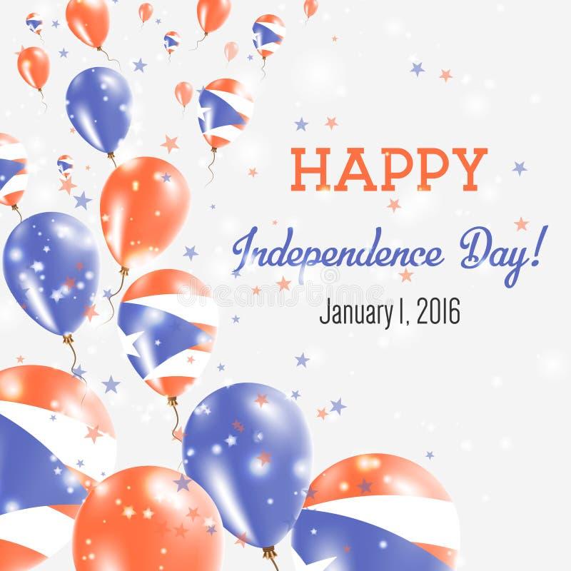 Puerto Rico Independence Day Greeting Card ilustração stock