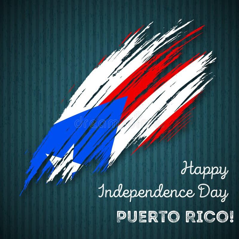 Puerto Rico Independence Day Patriotic Design ilustração do vetor