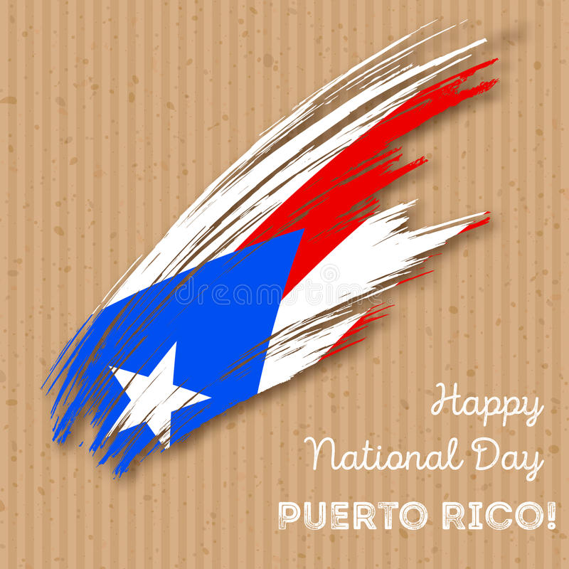 Puerto Rico Independence Day Patriotic Design ilustração stock