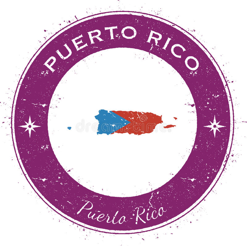 Puerto Rico kółkowa patriotyczna odznaka ilustracja wektor