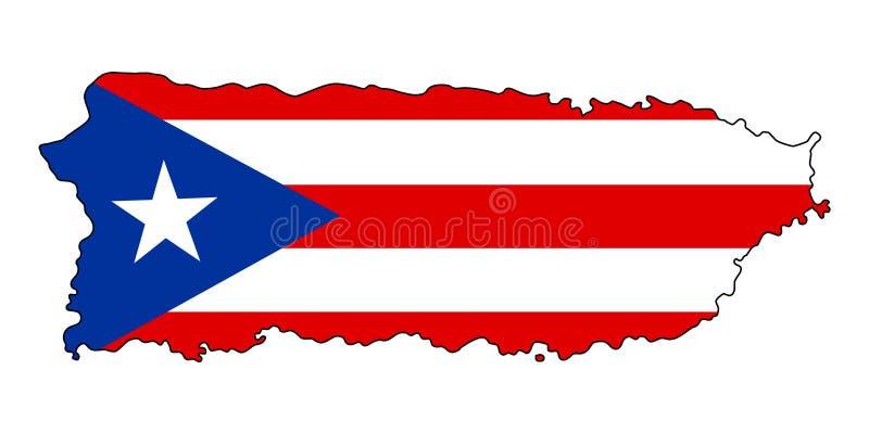 Puerto Rico Kaart van de vectorillustratie van Puerto Rico stock illustratie