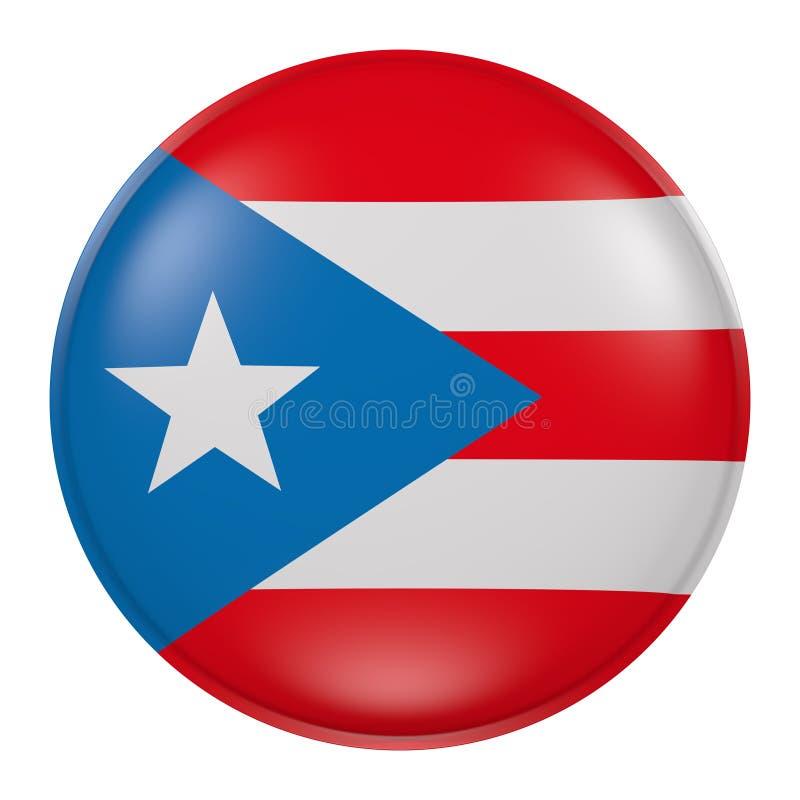 Puerto Rico knapp stock illustrationer