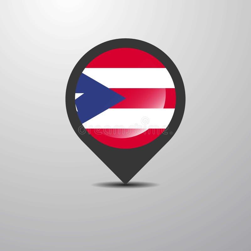 Puerto Rico Map Pin ilustração royalty free