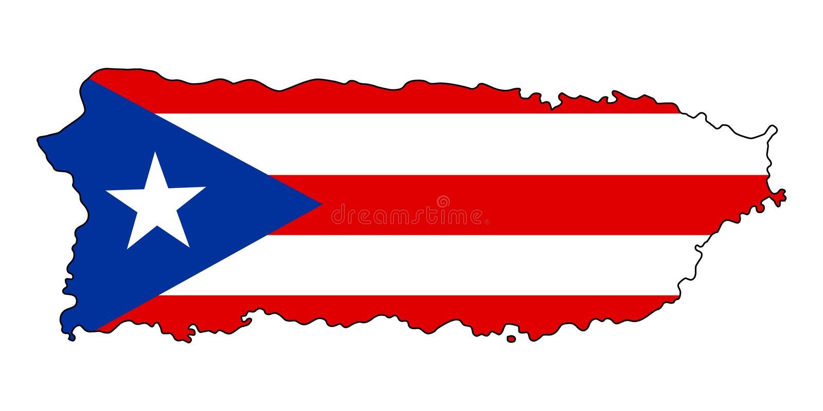 Puerto Rico .Map of Puerto Rico vector illustration stock illustration
