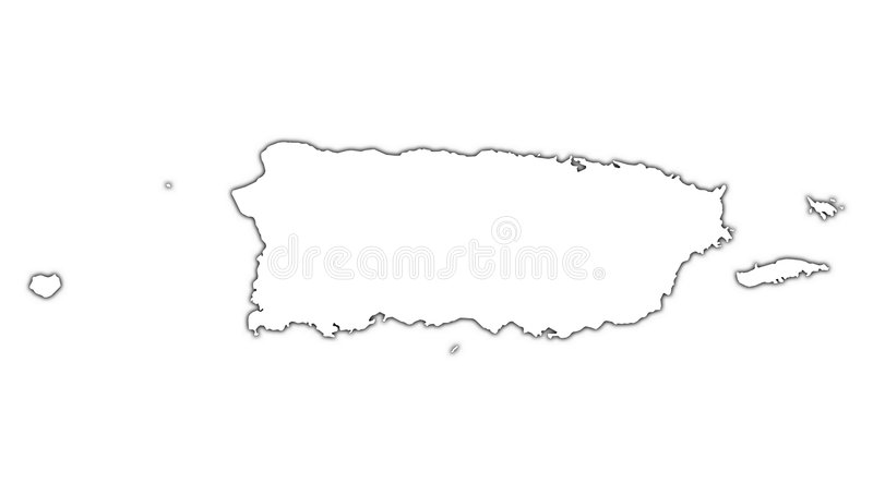 Puerto Rico outline map stock illustration Illustration of high