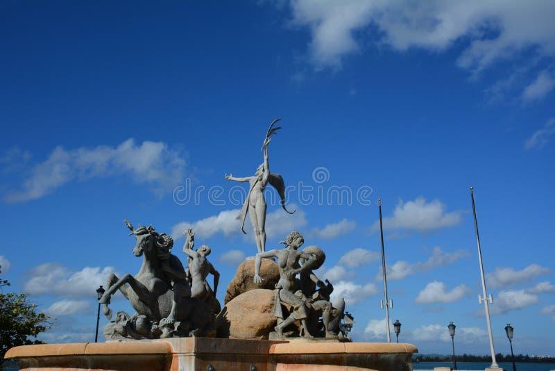 Puerto Rico. Paseo La Princesa in the Old San JUan royalty free stock images