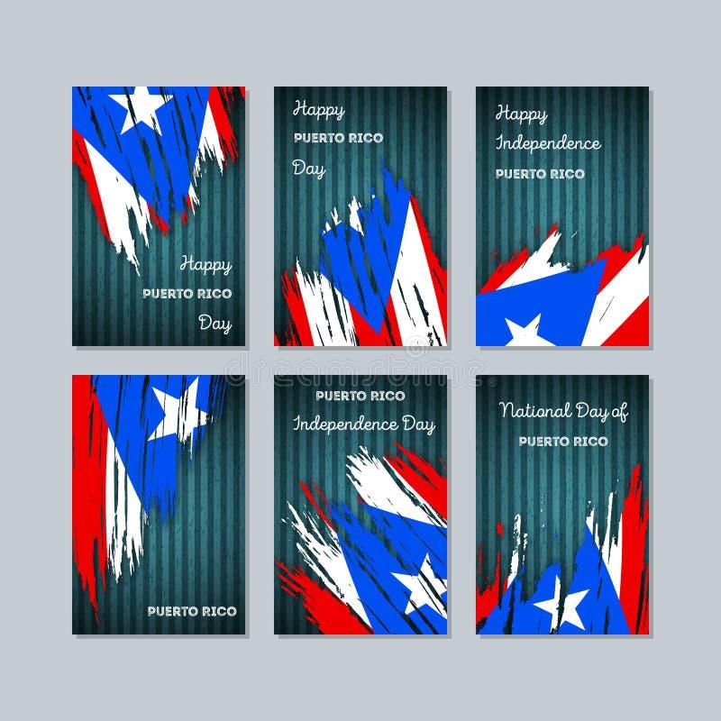 Puerto Rico Patriotic Cards para o dia nacional ilustração stock