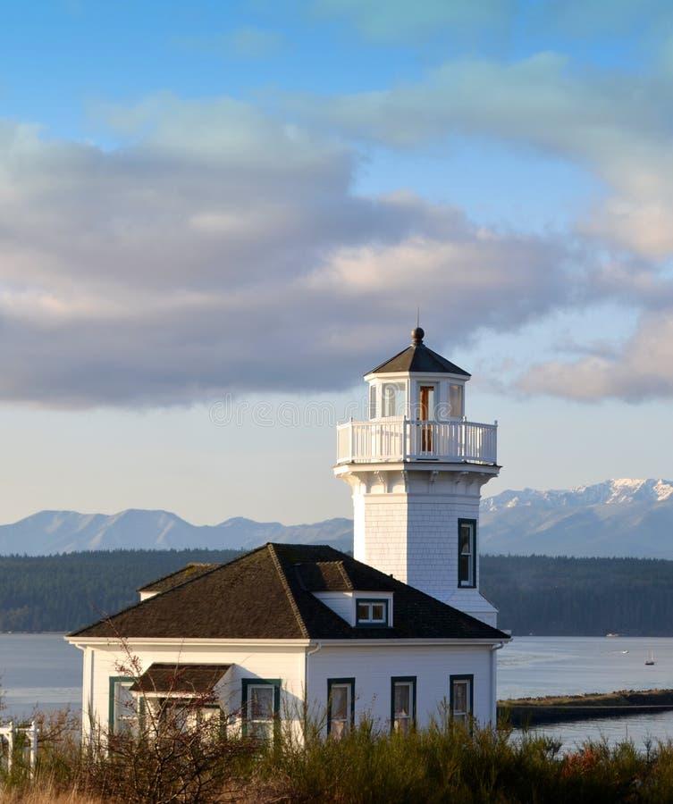 Puerto Townsend Lighthouse imagen de archivo