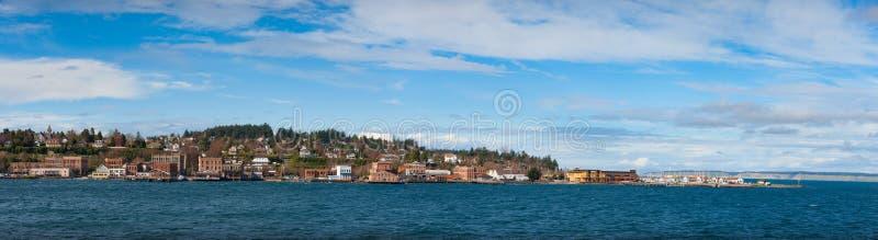 Puerto Townsend Panorama foto de archivo libre de regalías