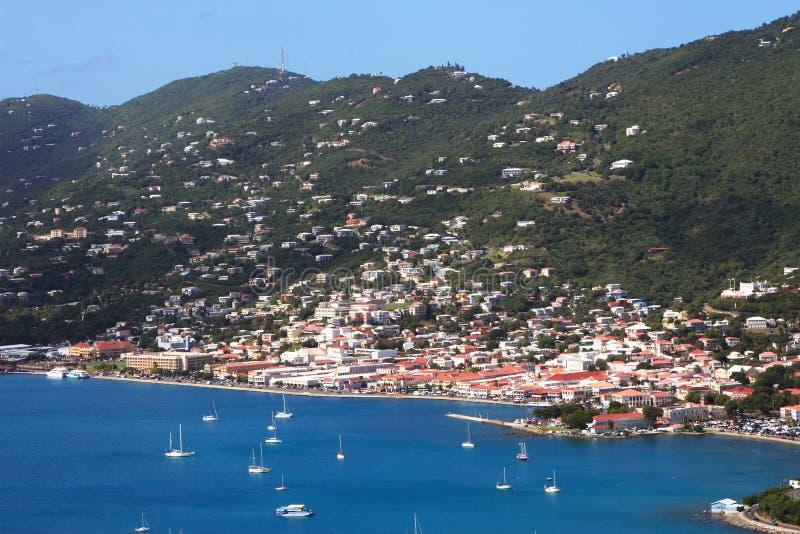 Puerto tropical imagen de archivo